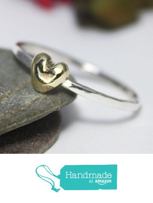 Little Bronze Heart Stacking Ring, Statement Ring, Tiny Bronze Heart Silver Band Ring, Silver Stacking Ring, Simple Ring, Hammered Ring, Heart Ring from rosajuri https://www.amazon.com/dp/B071JV59B2/ref=hnd_sw_r_pi_dp_-HzwzbBYN89HA #handmadeatamazon