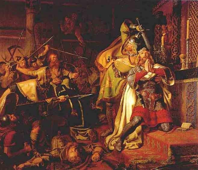 Śmierć Kanuta IV Świętego, Odense, 10 lipca 1086 roku