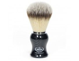 Brocha afeitar Omega Hi-Brush fibra sintetica madera clara