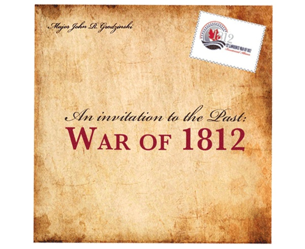 The front of our folding history flyer, completed to help promote the history of the War of 1812 along the St. Lawrence.