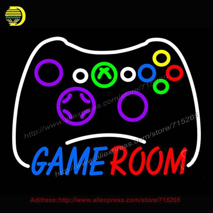 Комната для игр Xbox Контроллер Неоновый Знак Реального Неоновая Лампа Ручной Работы Комната отдыха Бар Паб Стены Знаковых Знак Неоновый свет 18x24