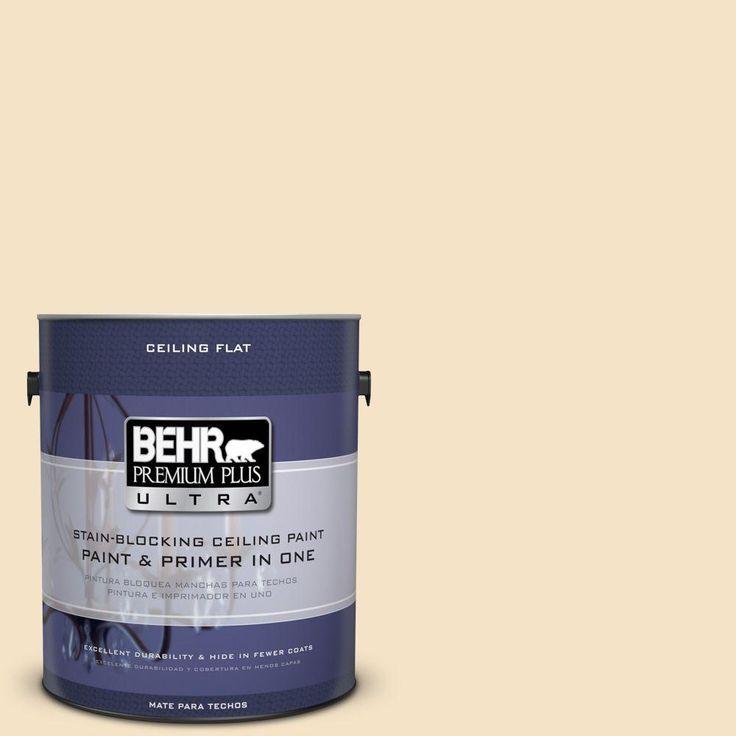 BEHR Premium Plus Ultra 1 gal. #PPU6-10 Ceiling Tinted to Cream Puff Interior Paint