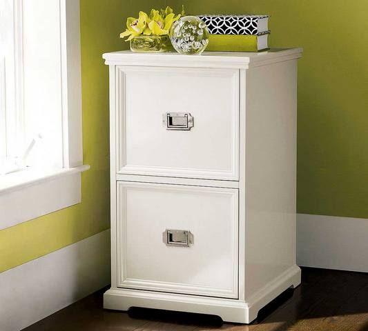 Beautiful White Wood File Cabinet