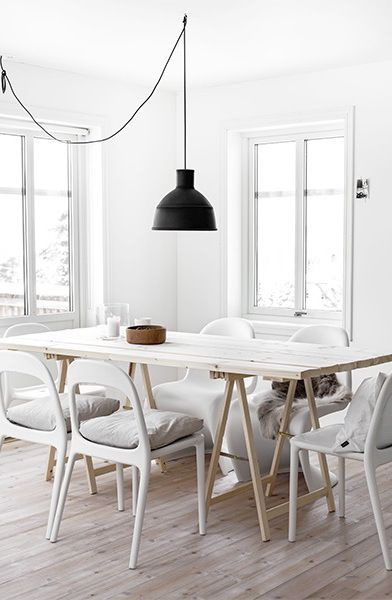 Sometimes I just crave simplicity in my interiors, like this beautiful home in Norway from Boligpluss magazine -- a white blank space with loads of natural ligh