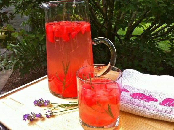 watermelon rosemary flavored water