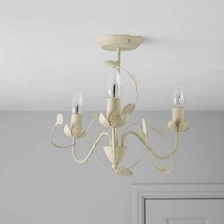 EVA Cream 3 Lamp Ceiling Light