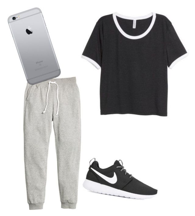 """Untitled #11"" by tamas-erdos on Polyvore featuring H&M, NIKE, men's fashion and menswear"