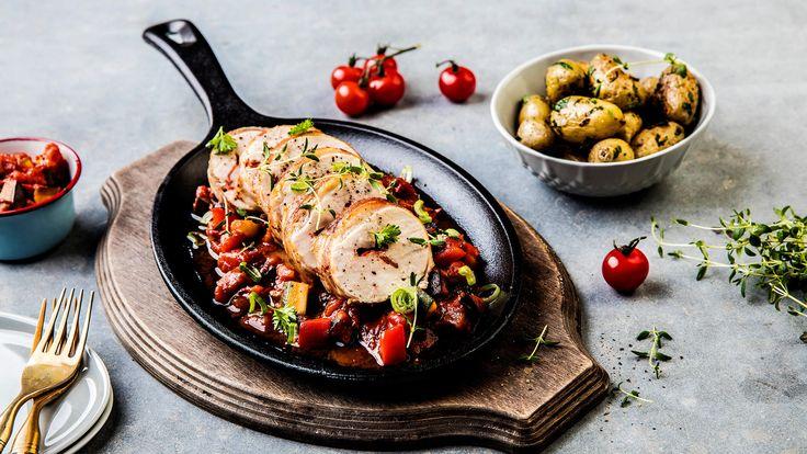 Kyllingbryst med chorizo og ost