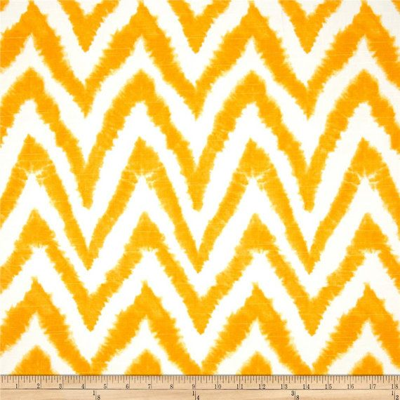 SALE  Premier Prints Diva Corn Yellow  Ikat Chevron  by FabricHQ