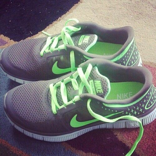 Neon Green Nike Shoes. must have