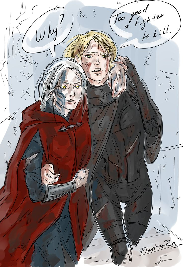 """Cute girls fight bloody and help each other afterwards. That's how it works lol;) Manon & Aelin (""""Throne of Glass"""" by Sarah J.Maas @ sjmaas.tumblr.com/ )by Phantomrin"""