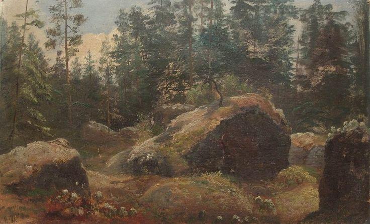 Валуны в лесу. Иван Иванович Шишкин