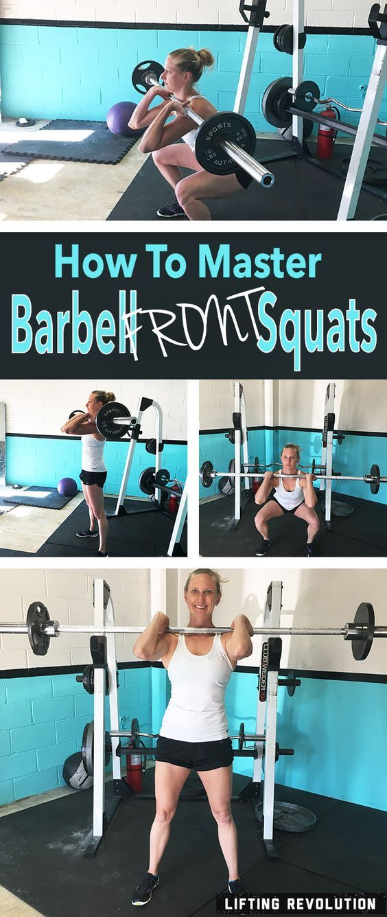How To Master The Barbell Front Squat (weight lifting, strength)