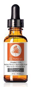 OZ Naturals - THE BEST Vitamin C Serum For Your Face - Organic Vitamin C + Amino + Hyaluronic Acid Serum- Clinical Strength 20% Vitamin C with Vegan Hyaluronic Acid Leaves Your Skin Radiant & More Youthful By Neutralizing Free Radicals. This Anti Aging Serum Will Finally Give You The Results You've Been Looking For! 1 Ounce -   - http://www.beautyvariation.com/beauty/oz-naturals-the-best-vitamin-c-serum-for-your-face-organic-vitamin-c-amino-hyaluronic-acid-serum-clin
