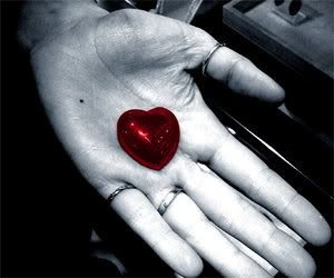 Color Splash Black And White Photography Red Heart In The Hand ...