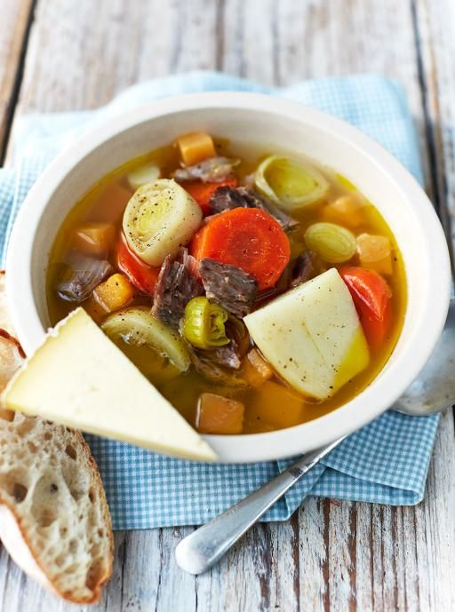 Traditional Welsh cawl Hearty lamb soup