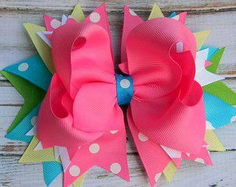 Girls hair bows Boutique hair bows hair bows by PoshBoutiqueGa