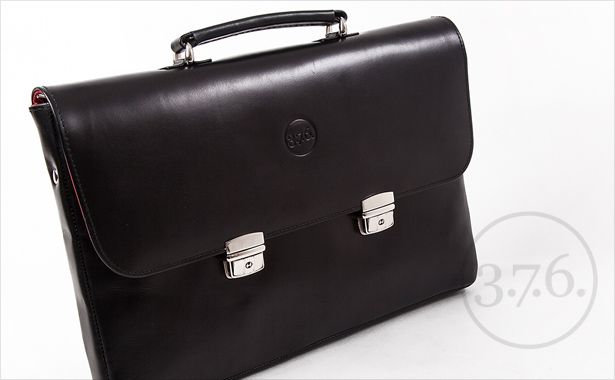 Natural leather briefcase. Each 3.7.6. product is unique. www.376west.com