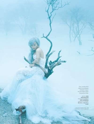 Enchanting Ice Princess Portraits - The Immaculate Dream Dewi Editorial
