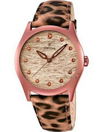 FESTINA Orange animal Print Leather Strap Τιμή: 88€ http://www.oroloi.gr/product_info.php?products_id=36409