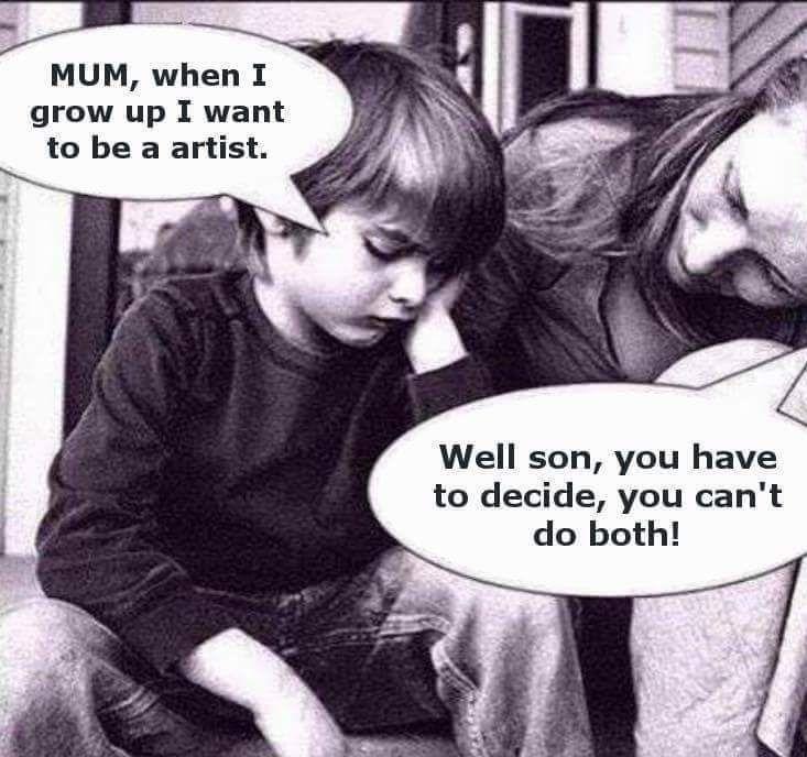 Grow up - an artist