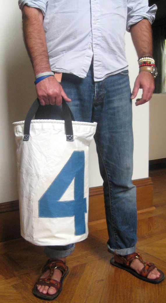 Upcycled sail tote 4 by Factory66 on Etsy, $45.00