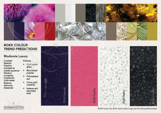 Moderate Luxury - 2013 colour forecast