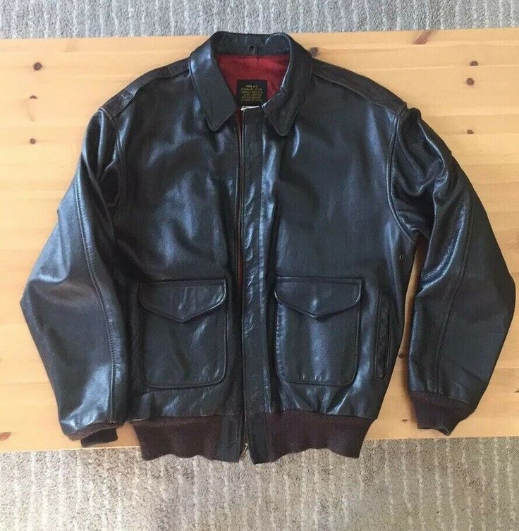 Avirex A2 Leather Flight Jacket Size 40 L eBay