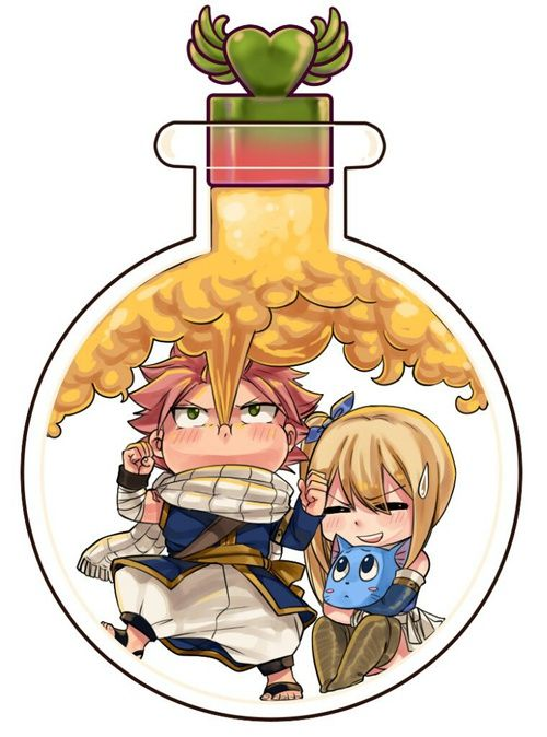 Nalu and Happy in a bottle <3