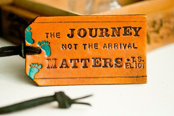 poppytalk handmade  leather luggage tags