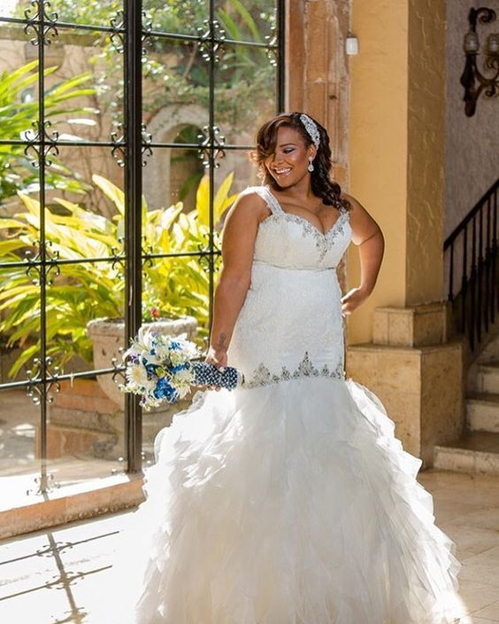 Fit and flare weddingdresses for a plus size frame can be for Fit and flare wedding dress body type