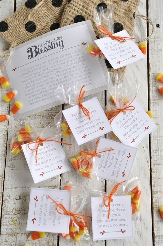 Candy Corn Blessings - a fun Thanksgiving Tradition!