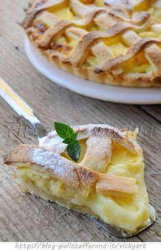 Crostata hawaiana crema e ananas vickyart arte in cucina
