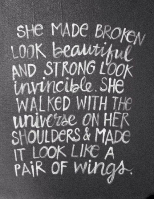 • broken look beautiful • #quotes
