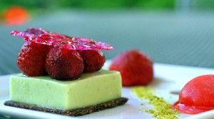 Douceur de pistache aux fraises « Mara des bois »
