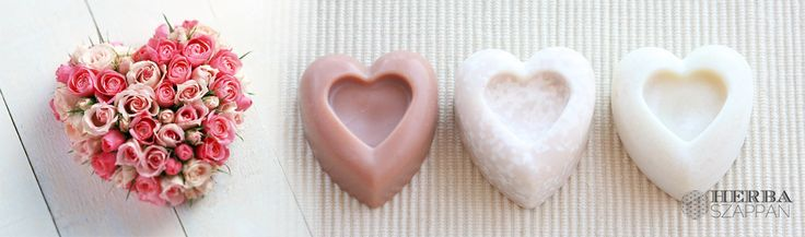 Valentin napi szív szappanok