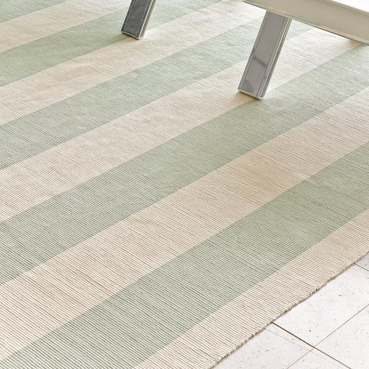Wide Stripe Flat Weave Rug: 5 Colors