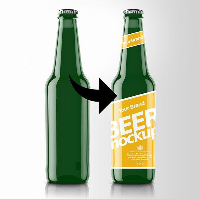 Modern Beer Bottle PSD Mockup - https://packreate.com/downloads/modern-beer-bottle-psd-mockup/