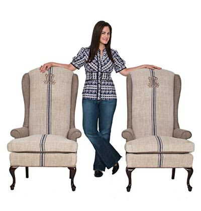 Recovered garage sale finds with vintage grain sacks  Queen Anne Chair GrainsackChair  Top 25  best Queen anne chair ideas on Pinterest   Queen anne  . Antique Queen Anne Upholstered Chairs. Home Design Ideas