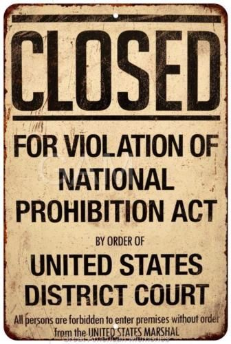 a history of prohibition in the united states This pro-continuance poster urges new zealanders not to follow the united  states in banning alcohol and claims prohibition causes more harm than good.