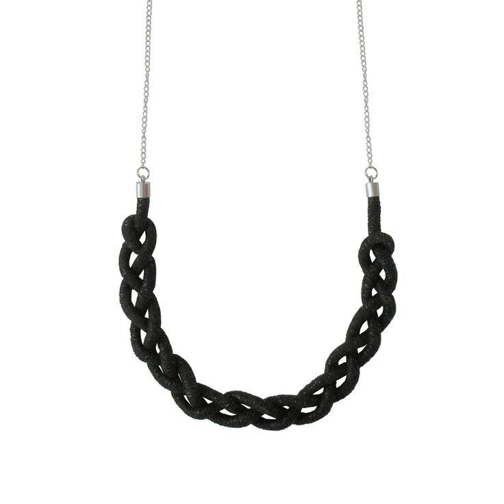 Sea necklace. Braided, made from handwowen rope. http://shop.nousevamyrsky.fi #knots #sustainable