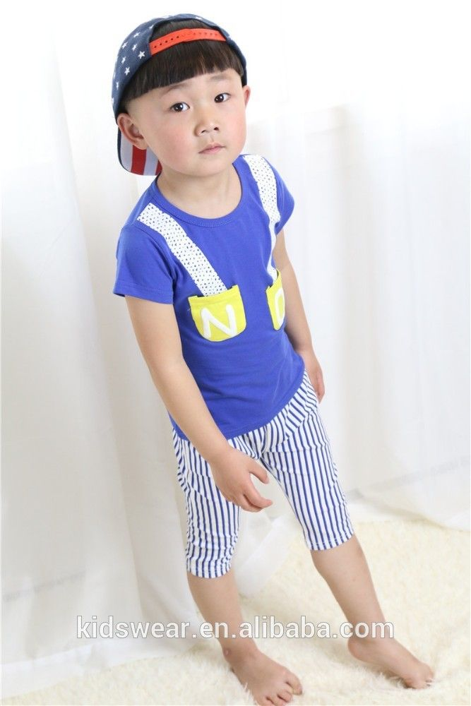 2015 wholesale designer cotton two-piece boy shirts kids clothing brands children easter clothing