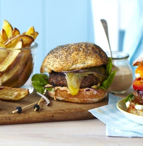 Chelsea's Cheeseburgers with secret sauce - ChelseaWinter.co.nz