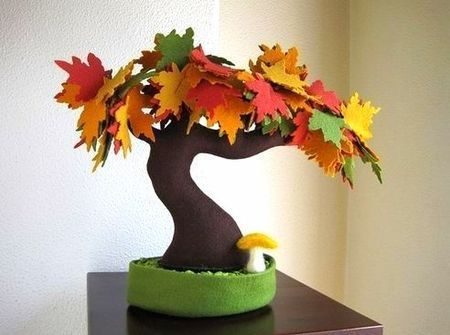 Copaci handmade din pasla 3