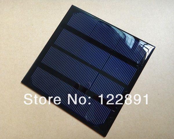 Оптовые! мини 3 Вт 6 В Солнечных Батарей Монокристаллические Солнечные Панели DIY Солнечное Зарядное Устройство 520mA 145*145*3 мм 20 шт./лот Бесплатная Доставка