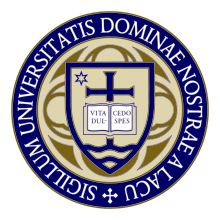 Seal of the University of Notre Dame   Motto: Life, Sweetness, Hope  Established in 1842 in St. Joseph County, Indiana, USA