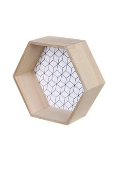 Etagère murale hexagonale