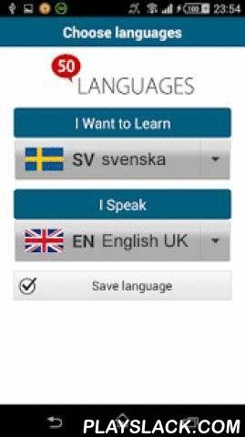 """Learn Swedish - 50 Languages  Android App - playslack.com ,  """"Zweeds 50 talen"""" (www.50talen.com) bevat 100 lessen die u voorzien van een basiswoordenschat. Deze gratische toepassing bevat 30 lessen. Zonder enige voorafgaande kennis leert u, met korte zinnen en in realistische situaties, heel snel een vreemde taal vloeiend spreken. De 50talen-methode is een geslaagde combinatie van audio en tekst, waarmee u efficiënt een taal kunt leren.50talen komt overeen met de niveaus A1 en A2 van het…"""