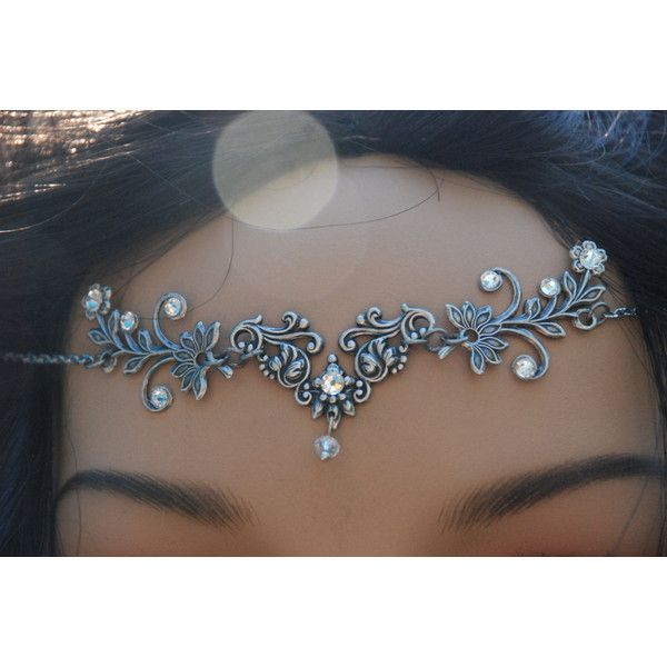 Head Jewelry Headjewelry Tiara Head Chain Headchain Head Piece... (54 AUD) ❤ liked on Polyvore featuring hair chain accessories