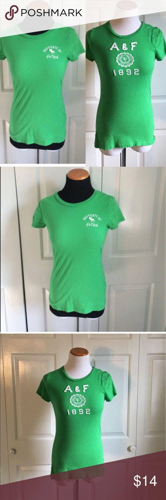 Abercrombie & Fitch T-Shirt Bundle Two Kelly green Abercrombie and Fitch t-shirts in excellent condition. Both size medium. Abercrombie & Fitch Tops Tees - Short Sleeve